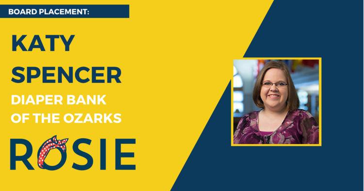 Katy Spencer named to Diaper Bank of the Ozarks' Board of Directors