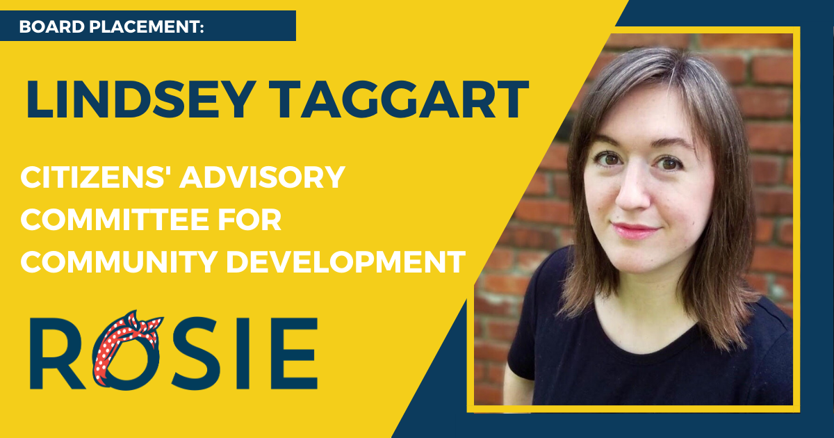 Lindsey Taggart appointed to Citizens' Advisory Committee for Community Development