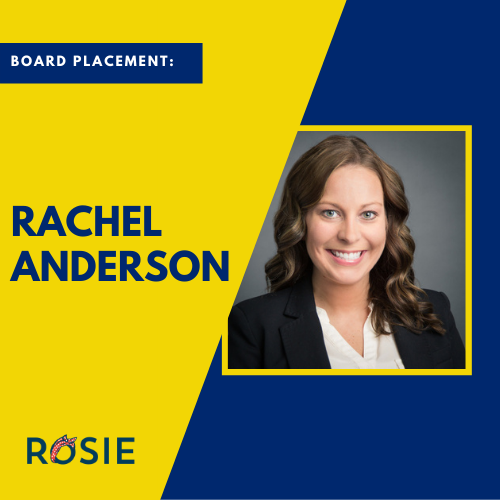 Rachel Anderson named to Greater Missouri Alzheimer's Association Board of Directors.